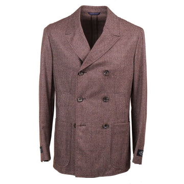 Belvest Donegal Tweed Wool Pea Coat