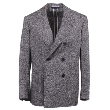Belvest Donegal Tweed Wool-Silk Pea Coat