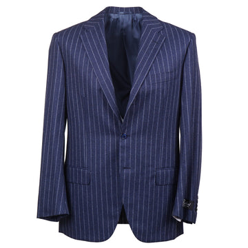 Belvest Dark Blue Flannel Wool Suit