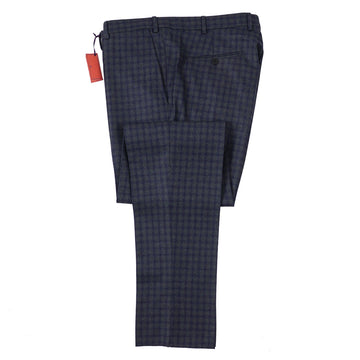 Isaia Slim-Fit Checked Wool Pants