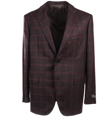 Belvest Burgundy Check Wool Sport Coat
