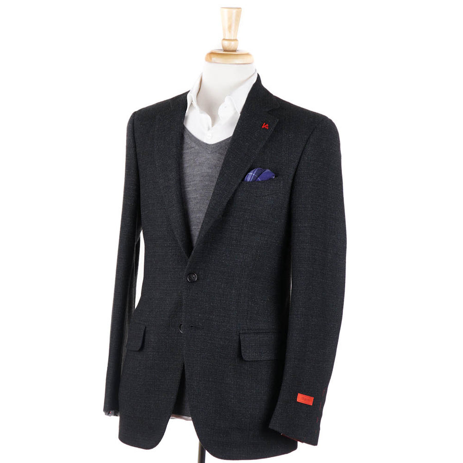 Isaia Dark Green Soft Wool Sport Coat