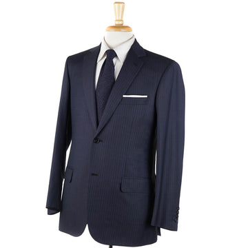 Brioni Dark Blue Stripe Wool Suit