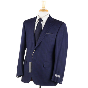 Canali Dark Blue Stripe Wool Suit - Top Shelf Apparel