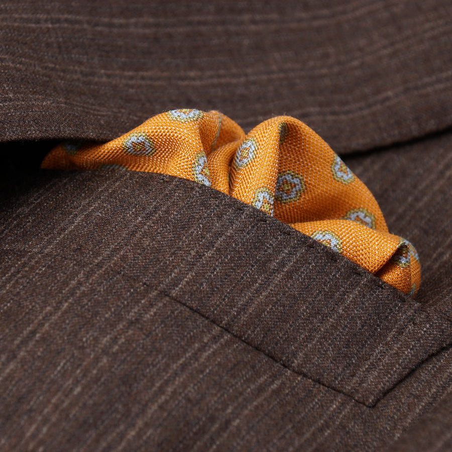 Isaia Cocoa Brown Soft Brushed Wool Suit