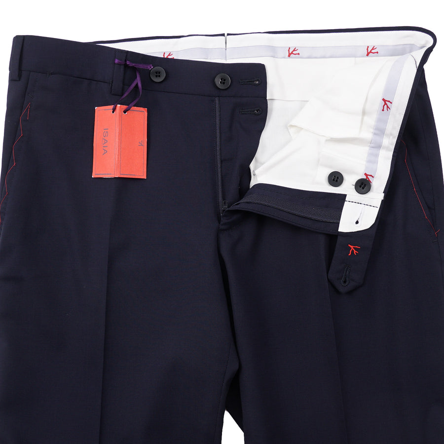 Isaia Slim-Fit Dynamic Comfort Wool Pants