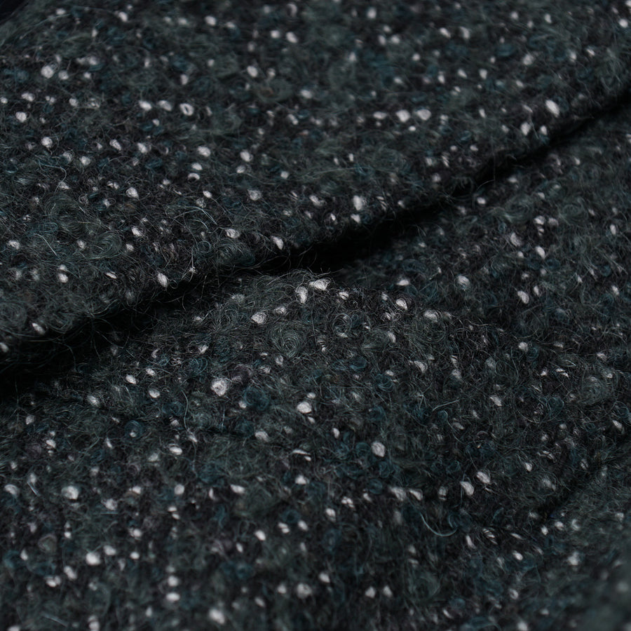Isaia Wool and Mohair Boucle Overcoat