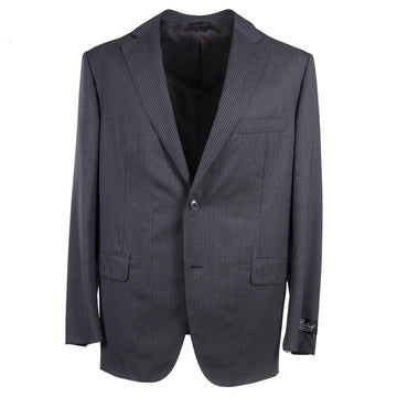 Belvest Gray Stripe Super 130s Suit - Top Shelf Apparel