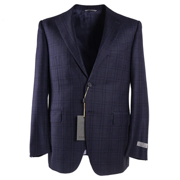 Canali Blue Check Soft Wool Suit