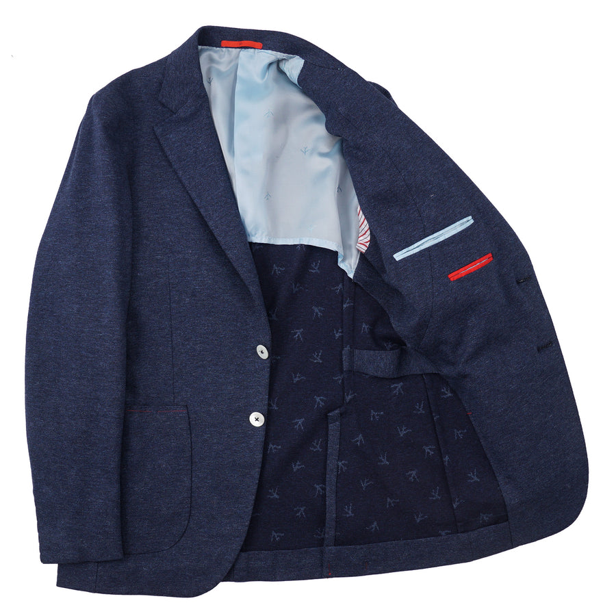 Isaia Knit Jersey Cotton Sport Coat