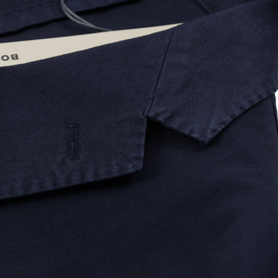 Boglioli Stretch Twill Cotton Suit in Navy Blue - Top Shelf Apparel