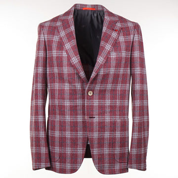 Isaia Slim-Fit Soft Flannel Wool Sport Coat