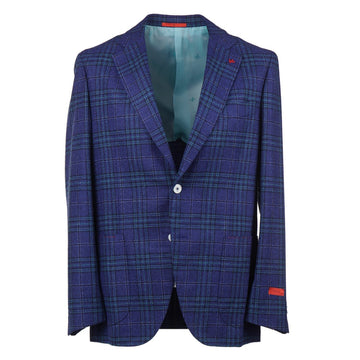 Isaia Layered Check Wool and Silk Sport Coat
