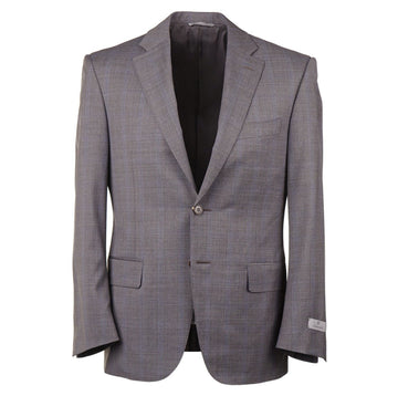 Canali Subtle Windowpane Check Wool Suit