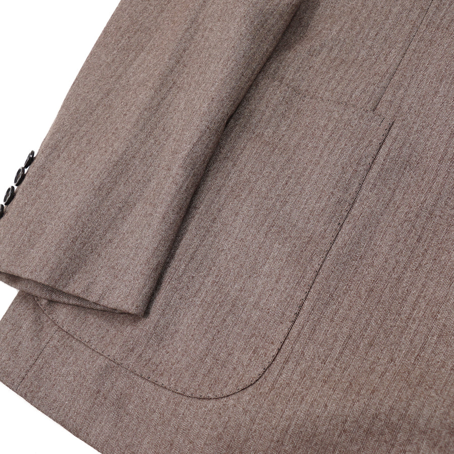 Brioni Herringbone Striped Cashmere Suit