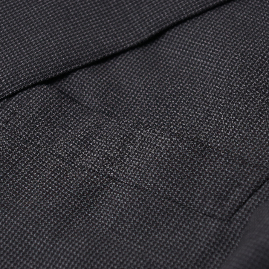 Brioni Gray Patterned Wool and Silk Suit