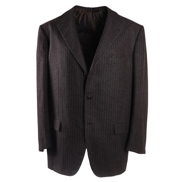 Kiton Chalk Stripe Cashmere Suit - Top Shelf Apparel