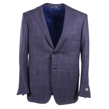 Canali Blue Check Wool Sport Coat