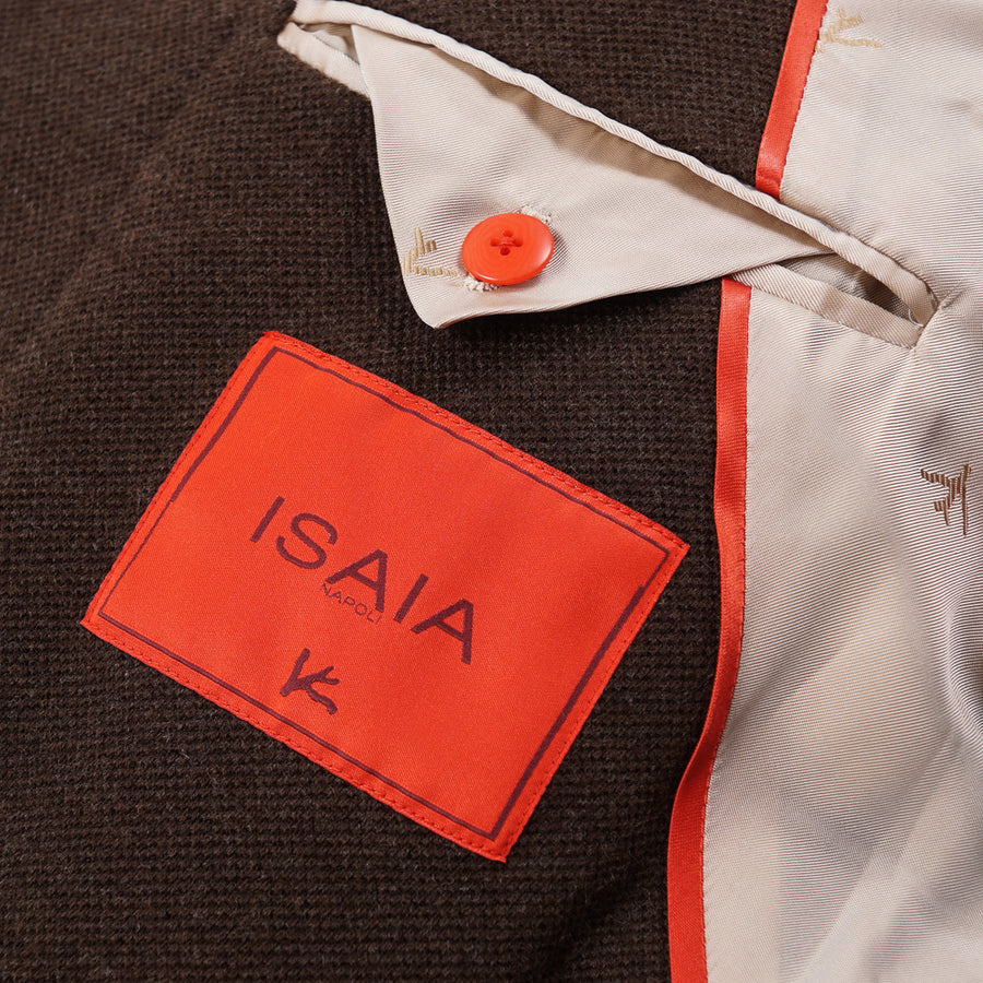 Isaia Pique-Woven Wool Sport Coat