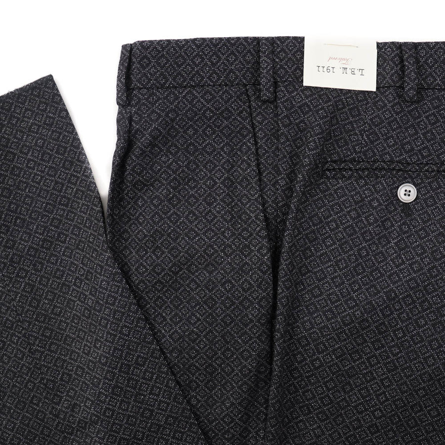 L.B.M. 1911 Diamond Jacquard Wool Pants