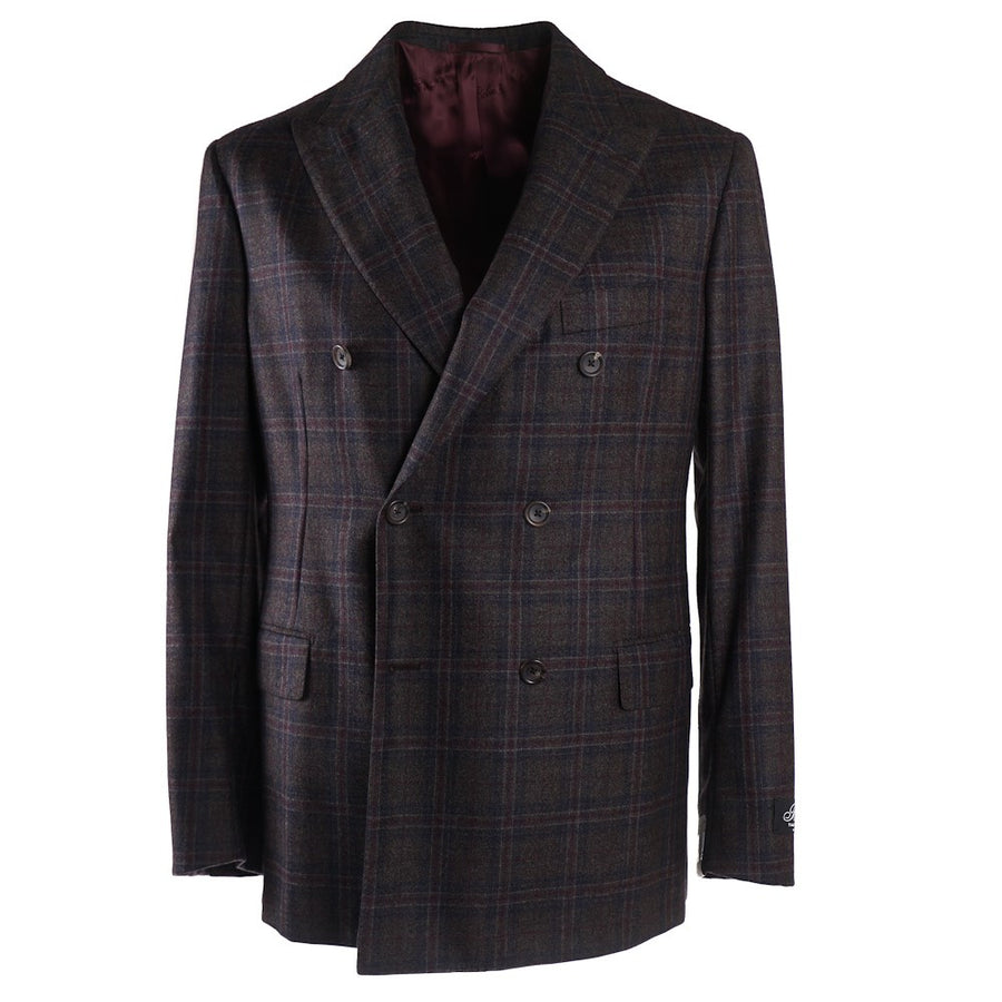 Belvest Windowpane Check Wool Sport Coat