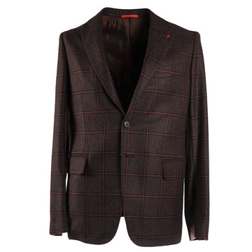 Isaia Windowpane Check Cashmere Sport Coat