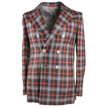 Isaia Layered Check Wool-Silk-Linen Sport Coat - Top Shelf Apparel