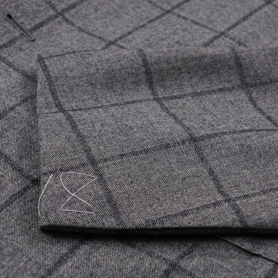 Cesare Attolini Gray Check Wool-Cashmere Suit