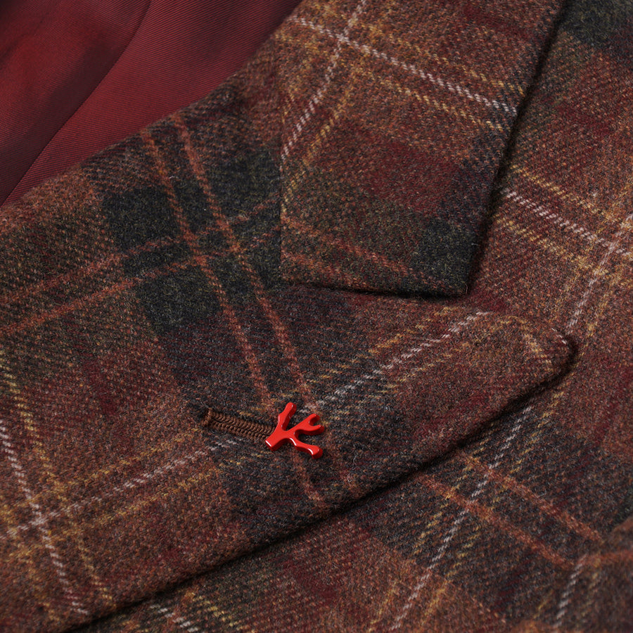 Isaia Layered Check Wool-Cashmere Sport Coat