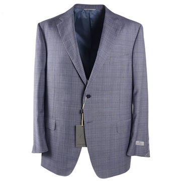 Canali Blue-Gray Check Wool Suit