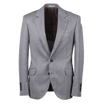 Brunello Cucinelli Herringbone Wool Sport Coat