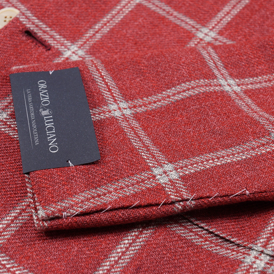 Orazio Luciano Windowpane Silk and Linen Sport Coat - Top Shelf Apparel