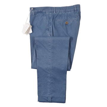 Brunello Cucinelli Washed Blue Cotton Pants
