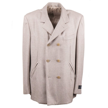 Belvest Herringbone Cashmere Pea Coat - Top Shelf Apparel