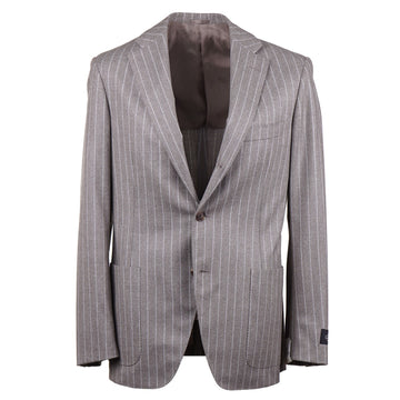 Belvest Dove Gray Flannel Wool Suit - Top Shelf Apparel