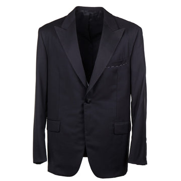 Oxxford Black Wool Tuxedo with Peak Lapels