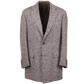 Cesare Attolini Soft Donegal Wool Overcoat