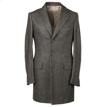 Isaia Slim-Fit Woven Wool Blend Overcoat