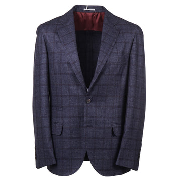 Brunello Cucinelli Blue Check Wool-Blend Sport Coat