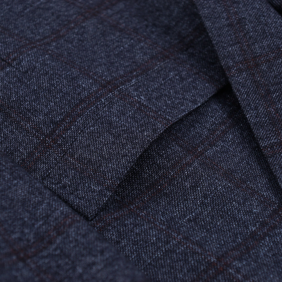 Brunello Cucinelli Blue Check Wool-Blend Sport Coat - Top Shelf Apparel