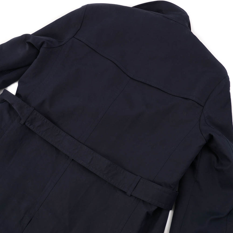 Boglioli Navy Cotton Coat with Wool Liner