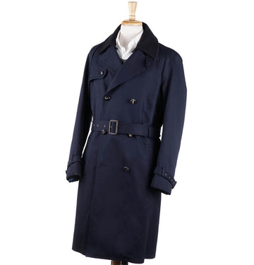 Boglioli Navy Cotton Coat with Wool Liner - Top Shelf Apparel