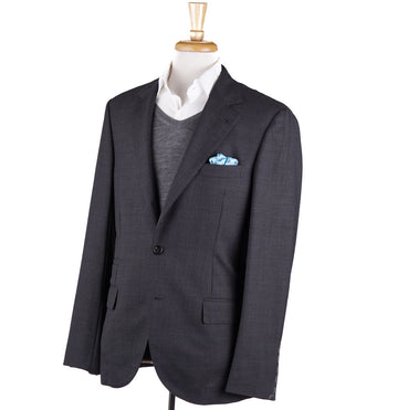 Brunello Cucinelli Gray Subtle Woven Wool Sport Coat
