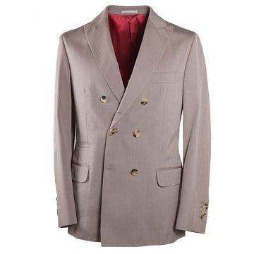 Brunello Cucinelli Herringbone Cotton Suit