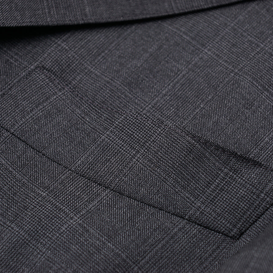 Eidos Gray Subtle Check Wool Suit