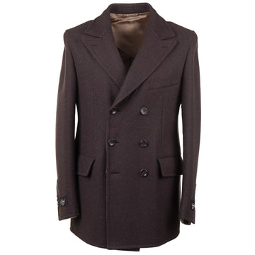 Belvest Mid-Weight Flannel Wool Pea Coat - Top Shelf Apparel