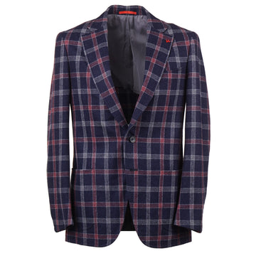 Isaia Layered Check Soft Wool Sport Coat - Top Shelf Apparel