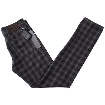 Kiton Slim Fit Five-Pocket Lightweight Flannel Wool Pants
