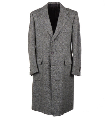 Cesare Attolini Patterned Tweed Wool Overcoat