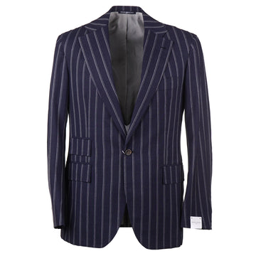 Orazio Luciano Navy Stripe Crisp Wool Suit - Top Shelf Apparel